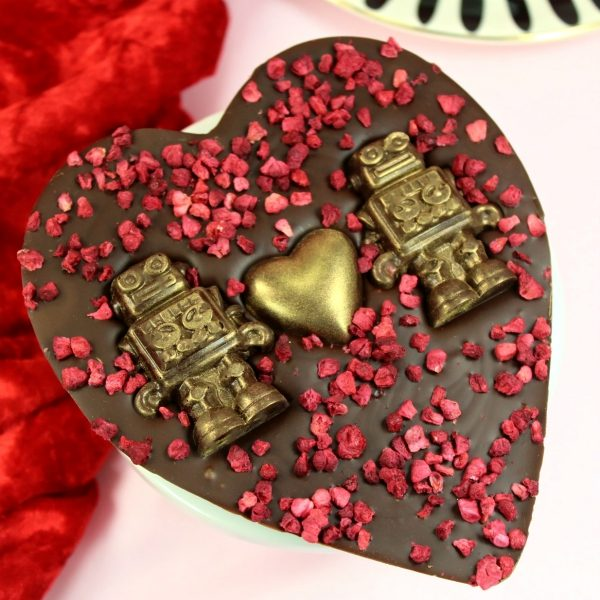 Love Bot - Dark Chocolate Raspberry Heart - Maple Molly's