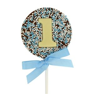 birthday party favours number lollipops sprinkled