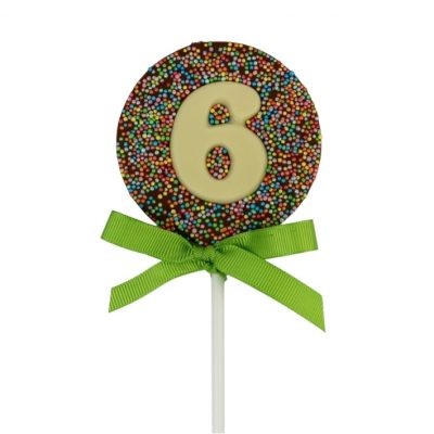 birthday party favours number lollipops rainbow