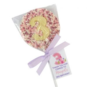 birthday party favours number lollipops Princess